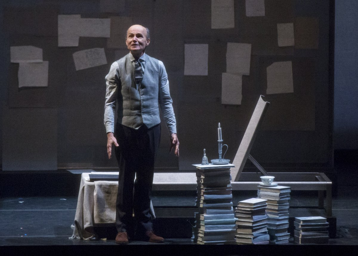 Henry Stram as Marcel Proust in Sarah Rothenberg's A Proust Sonata. Photo: Ben Doyle.